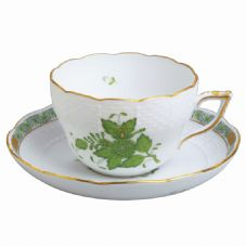 Herend AV - Apponyi Green Teacup & Saucer
